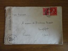 LETTRE DE BELGIQUE POUR LA FRANCE AVEC CONTROLE DES COMMUNICATIONS 16/04/1945 - Postmark Collection