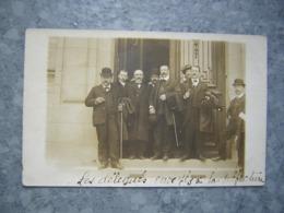 CARTE PHOTO - LAURIERE - MANIFESTATIONS - LES DELEGUES ENVOYES A LA PREFECTURE - Francia