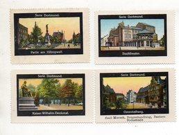 Y11259/ 4 X Reklamemarke  Dortmund  Ca.1920 - Publicité
