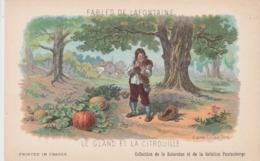 FABLES DE LA FONTAINE LE GLAND ET LA CITROUILLE - Contes, Fables & Légendes