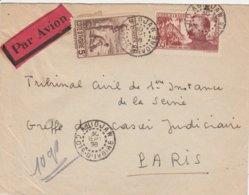 Cote D'Ivoire Lettre Pour La France 1938 - Ivory Coast (1892-1944)