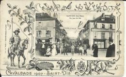 Cavalcade 1907 , SAINT DIE , Rue Thiers , Un Jour De Fête , CPA ANIMEE - Saint Die