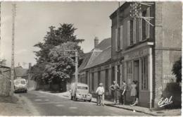 D28 - BAILLEAU LE PIN - GRANDE RUE -Camion De Livraison Vittel Délices-Citroën 2CV Fourgonnette-Perillier-Cycliste - Autres Communes