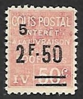 COLIS POSTAUX  1926 -  YT  76 - Sans Gomme - Cote 8e - Mint/Hinged