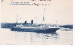 BATEAU PAQUEBOT CHARLES ROUX - Steamers