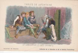 FABLES DE LA FONTAINE LE  LABOUREUR ET SES ENFANTS - Contes, Fables & Légendes