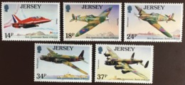 Jersey 1990 Battle Of Britain Aircraft MNH - Jersey