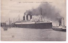 BATEAU PAQUEBOT PARIS(SAINT NAZAIRE) - Dampfer