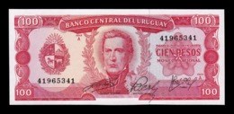 Uruguay 100 Pesos 1967 Pick 47 Sign 6 SC UNC - Uruguay