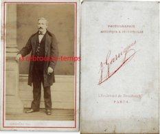 CDV Portrait D'homme-photographie Artistique Et Industrielle Garrigues Bld De Strasbourg à Paris - Anciennes (Av. 1900)