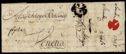 1797. LONDRES A VENECIA. CARTA COMPLETA. MARCA BISHOP TINTA ESCRIBIR. MNS. FRANCA PER ANVERSA. MUY RARA. - Italia