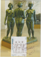 Carte Maximum FRANCE N° Yvert 4627 (MAILLOL - Les Trois Nymphes) Obl Sp Ill 1er Jour - 2010-...