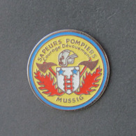 1 Pin's Sapeurs Pompiers De MUSSIG (BAS RHIN - 67) - Bomberos