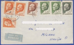 YUGOSLAVIA (CROATIA-ITALY) PAR AVION LETTER COVER ENVELOPE WITH STAMPS J.B.TITO 1969 - Covers & Documents