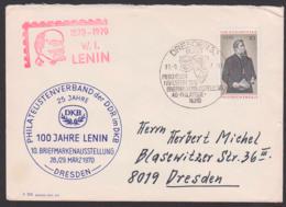 Germany DDR Dresden W. I. Lenin 10 Pfg. Friedrich Engels, SoSt. Pieschen Hafenfest 1970 - DDR