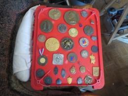 1 Lot De 31 MEDAILLES,INSIGNES,et Divers ,toutes Sont Photographiées Recto Et Verso ,poids 1 Kilo 700 Grammes - France