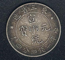 China, Manchurian Provinces, 20 Cents, Silber, Hsuan Tung, KM 213.1 - China