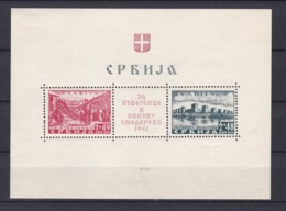 Serbien - 1941 - Michel Nr. Block 1 - Ungebr. - 150 Euro - Bezetting 1938-45