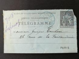 Télégramme. Paris Gare St Lazare - Pneumatiques