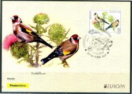 "ITALIA / ITALY 2019 - Europa 2019 - Uccelli / Birds - ""Cardellino"" - Maximum Card - 2019"