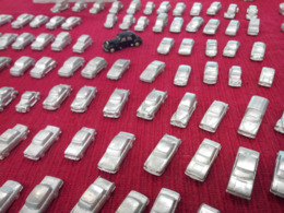 Miniature étain à Peindre, Renault Citroen Peugeot Panhard Simca Ford Jeep Alpine Fiat Jaguar Matra Porsche Triumph VW - Voitures, Camions, Bus