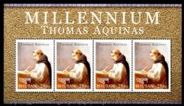 BHUTAN 2000** - San Tommaso D'Aquino - Block Di 4 Val. MNH, Come Da Scansione. - Christianisme
