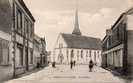 Cpa Marcilly Sur Eure La Grande Rue . - Marcilly-sur-Eure