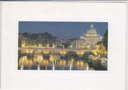 ROMA - Ponte Sant' Angelo E La Basilica Di San Pietro, Viaggiata,  Nice Stamp - Citta Del Vaticano - San Pietro