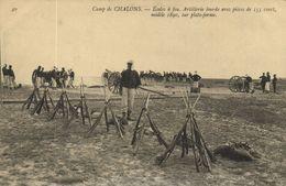 CPA Militaire - Camp De CHALONS - Écoles A Feu Artillerie Lourde (90224) - Camp De Châlons - Mourmelon
