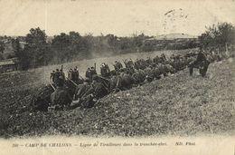CPA Militaire - Camp De CHALONS - Ligne De Tirailleurs Dans La (90225) - Camp De Châlons - Mourmelon
