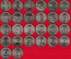 """Peru FULL Set Of 26 Coins: 1 Nuevo Sol 2010-2016 """"Wealth And Pride"""" UNC - Peru"""