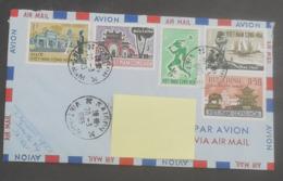Vietnam 1964 - 1965 N°YT 250 à  253  MI 247 à 250 / Temple Paysages Hué Saïgon  / Enveloppe Voyagée Vers La France - Viêt-Nam