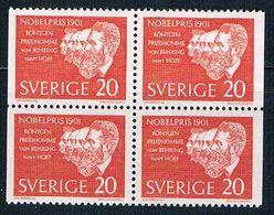 Sweden 606 MNH Blk 4 Nobel Prize Winners 1961 CV 1.00 (S1073) - Sweden