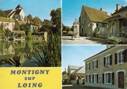 77 - Montigny Sur Loing : Multivues : Bords Du Loing - Eglise - Mairie - CPM écrite - France