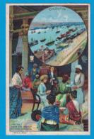 IMAGE DUROYON & RAMETTE CAMBRAI CHICOREE A LA MENAGERE PAPIER GRAINS DE CAFE / CHROMO R. SENECAUT ROUBAIX PARIS CALCUTTA - Duroyon & Ramette