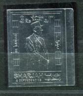Thème Général De Gaulle - Sharjah Didier 43 - Neuf XXX Sur Feuille D'argent - Lot 192 - De Gaulle (Generale)