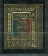 Thème Général De Gaulle - Sharjah Didier 47 - Neuf XXX Sur Feuille D'or - Lot 192 - De Gaulle (General)