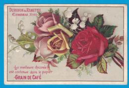 IMAGE DUROYON & RAMETTE CAMBRAI NORD PAPIER GRAINS DE CAFE / MUGUET ROSE - Duroyon & Ramette