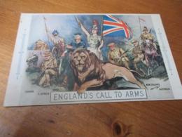 England's Call To Arms - Guerra 1914-18
