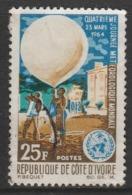Ivory Coast 1964 World Meteorological Day 25 F Multicoloured SW 271 O Used - Ivory Coast (1960-...)