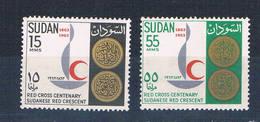 Sudan 160-61 MLH Set Centenary Emblem 1963 CV 1.50 (S0827)+ - Sudan (1954-...)