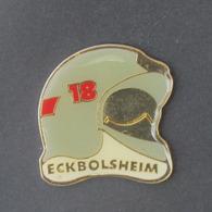 1 Pin's Sapeurs Pompiers D'ECKBOLSHEIM (BAS RHIN - 67) - Brandweerman