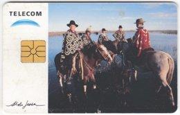 ARGENTINIA A-308 Chip Telecom - Occupation, Gaucho, Animal, Horse - Used - Argentine