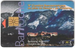 ARGENTINIA A-325 Chip Telefonica - Landscape, Mountain - Used - Argentine