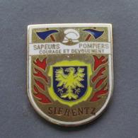 1 Pin's Sapeurs Pompiers De SIERENTZ (HAUT RHIN - 68) - Brandweerman
