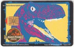 ARGENTINIA A-345 Chip Telecom - Cinema, The Lost World / Prehistoric Animal, Dinosaur - Used - Argentine