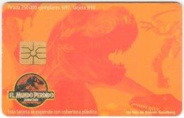 ARGENTINIA A-346 Chip Telecom - Cinema, The Lost World / Prehistoric Animal, Dinosaur - Used - Argentina