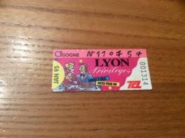 Ticket De Transport (Bus, Métro, Tramway) TCL Abonnement «JAN 95 -CIGOGNE (LYON Privilèges)» LYON(69) - Autobus