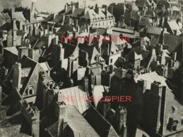SAINT-MALO Vue Sur Les Toits Vers 1930 Grande Photo Par GABRIEL Ille-et-Vilaine 35 Bretagne - Plaatsen