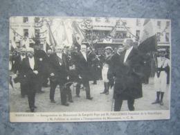 MARMANDE - INAUGURATION DU MONUMENT LEOPOLD FAYE PAR M. FALLIERES - Marmande